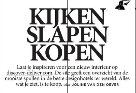 Volkskrant Magazine Design Issue - Kijken slapen kopen - 3rd of may 2014 - 1