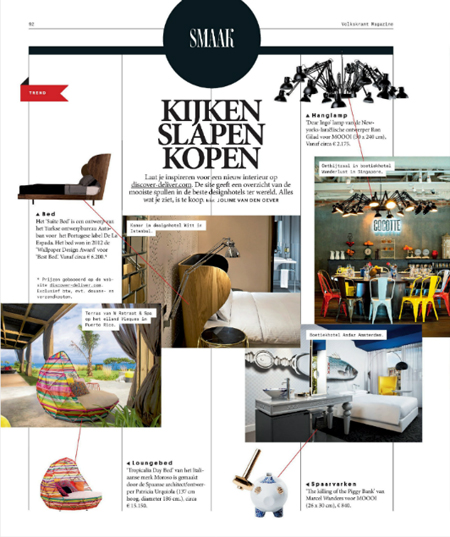 Volkskrant Magazine Design Issue - Thuiskomen - 3rd of may 2014 - 2