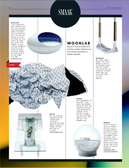 Volkskrant Magazine Design Issue - Thuiskomen - 3rd of may 2014 - 4